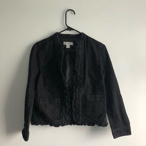 Christopher & Banks Jean Jacket Black